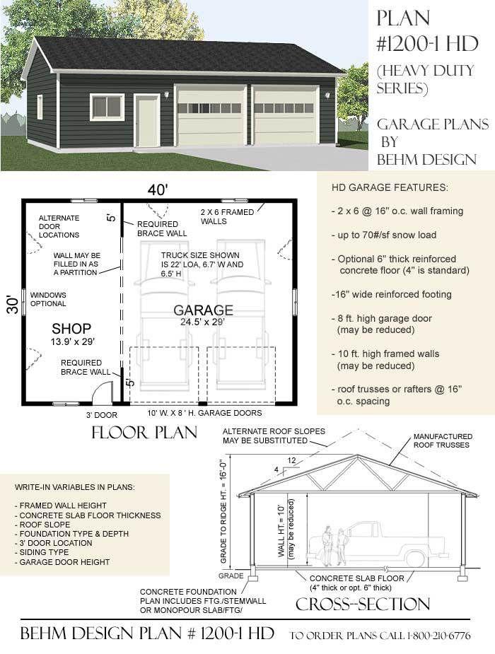 How To Get Garage Floor Plans The Easy Way Garage Shop Plans Garage Plans Garage Design