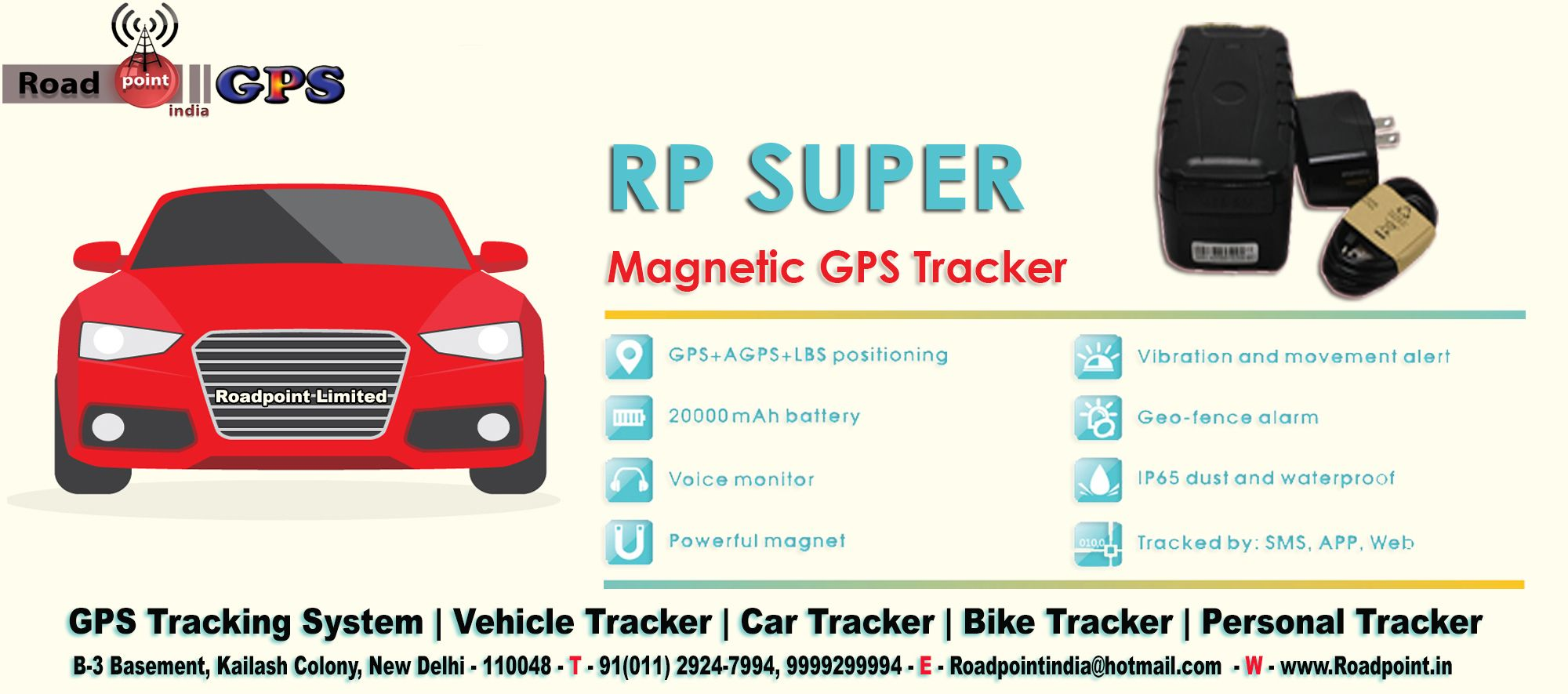Buy Rp Super Magnetic Gps Tracker And Secure Your Vehicle From All Threats Features