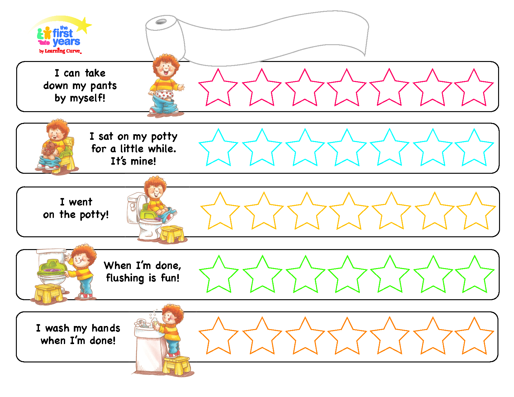 Potty training chart pdf kid ideas pa ales imprimibles sentidos
