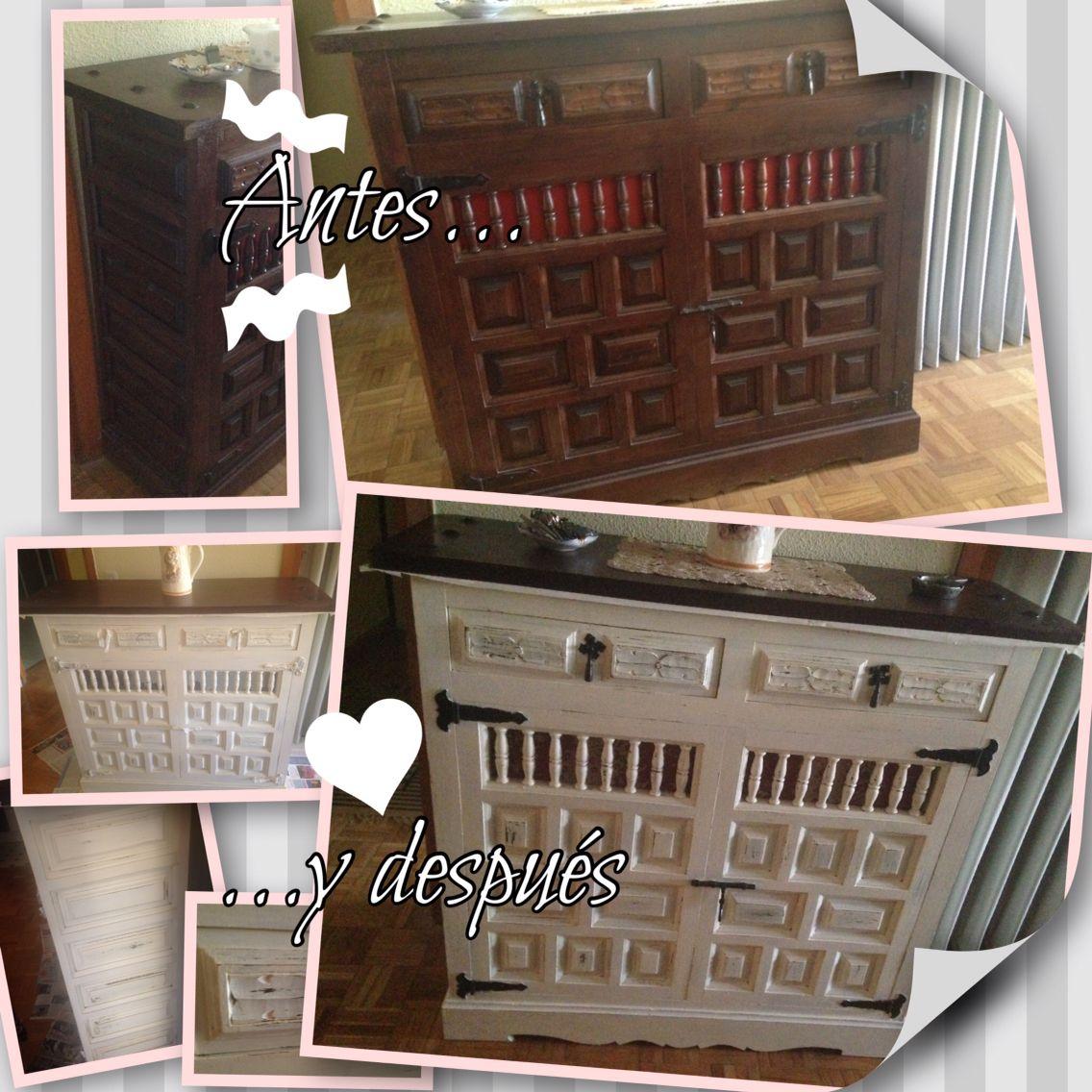 Mueble castellano actualizado con chalk paint for Armarios reciclados