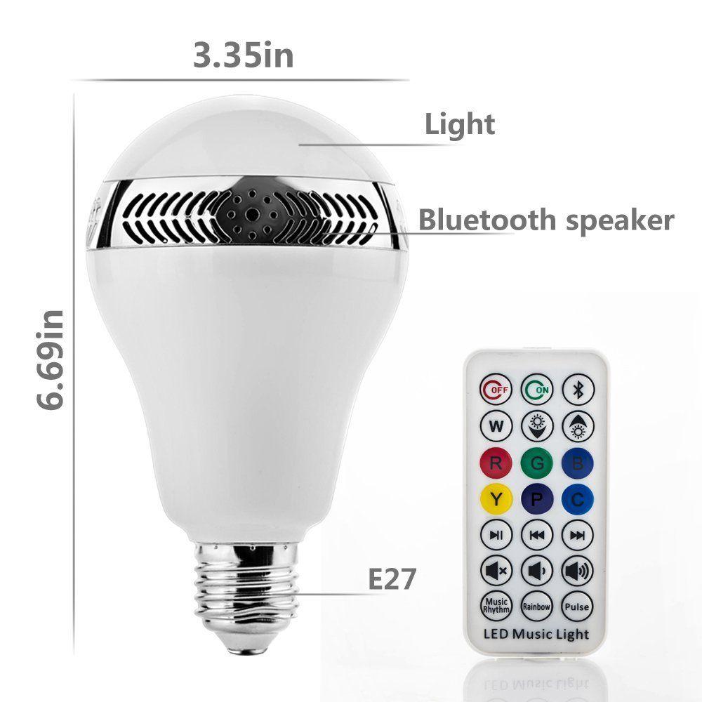 Grandbeing Bluetooth 4 0 Smart App Birne Led Lautsprecher Mit 5w Lautsprecher Und Weckfunktion Smartphone Und Led Bluetooth Lautsprecher Led Energie Sparen