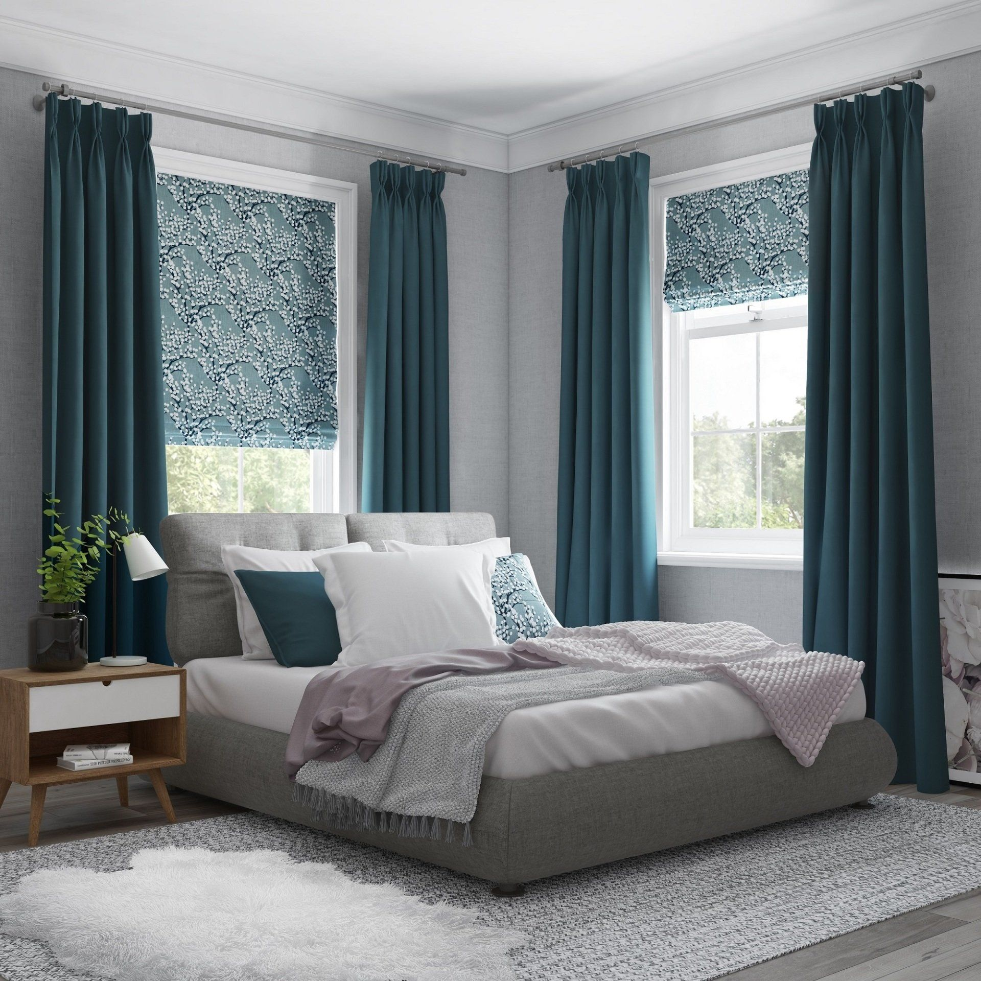 Accessorising Your Bedroom Try Contrasting Fabrics In The
