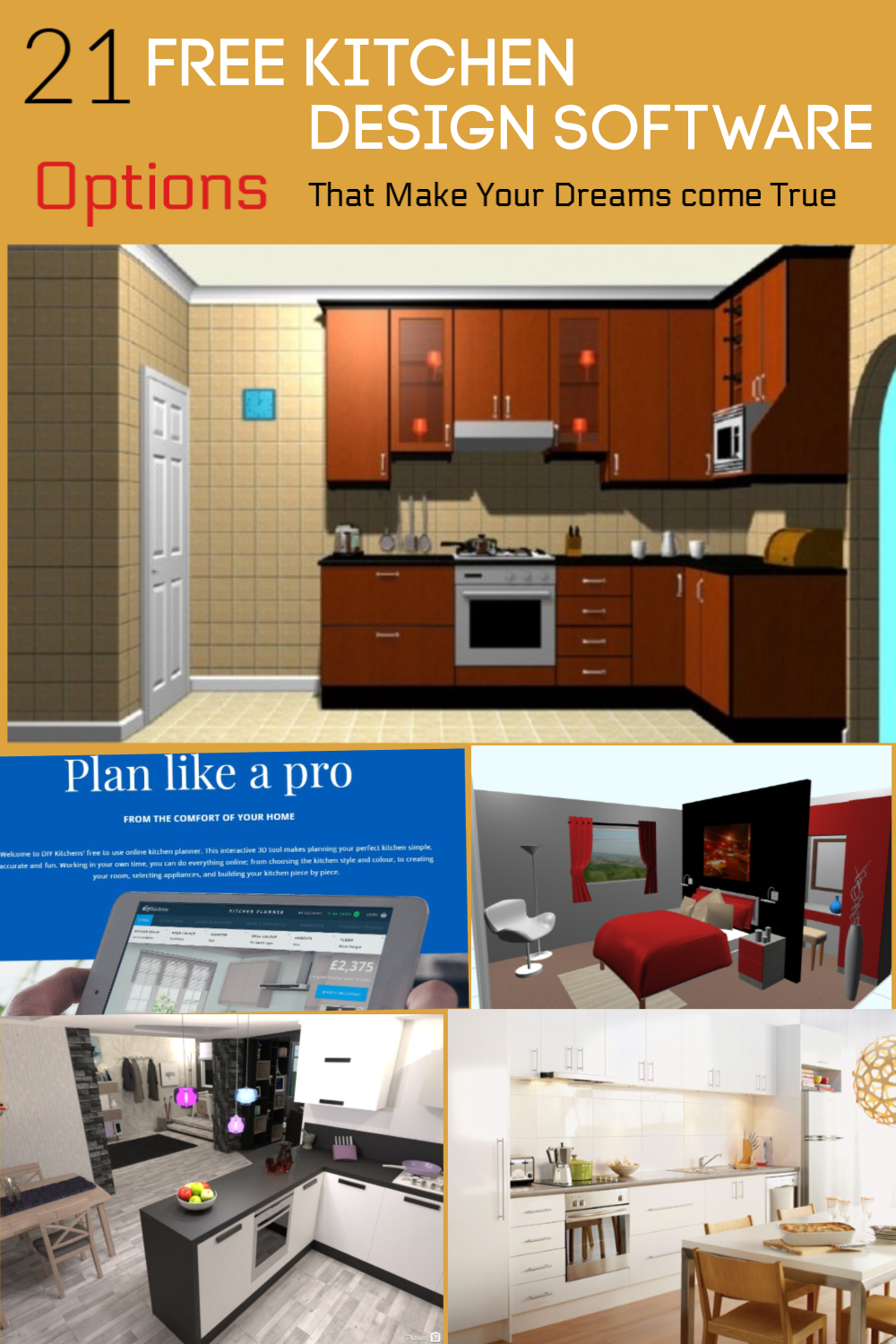 21 Free Kitchen Design Software To Create An Ideal Kitchen Home And Gardening Ideas Free Kitchen Design Kitchen Design Software Kitchen Design Software Free
