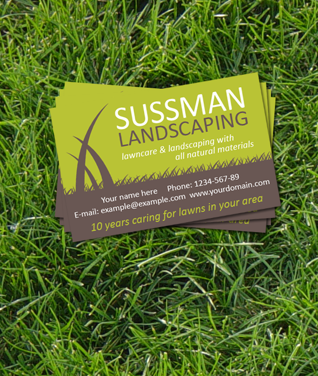 Business Card Design for Landscape Gardeners