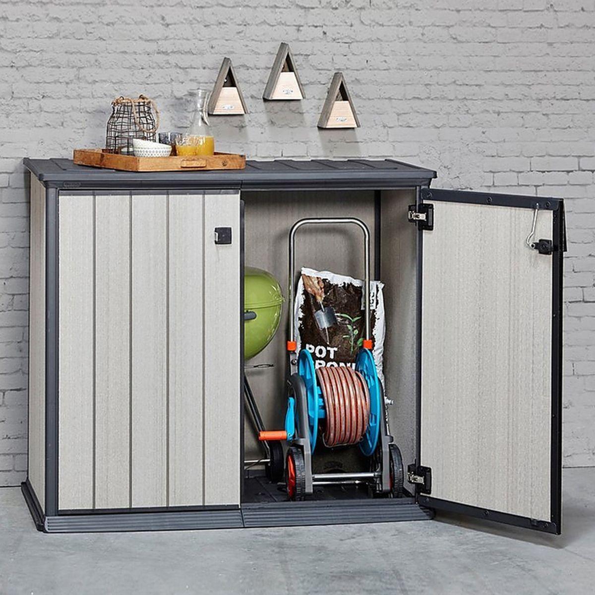 Armoire de jardin basse en résine Brossium 1000 L - Keter | Products ...