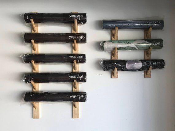 Yoga Mat Rack Foam Mat Rack Custom Yoga Mat Rack Mat Etsy Yoga Mat Storage Yoga Mat Holder Custom Yoga Mat