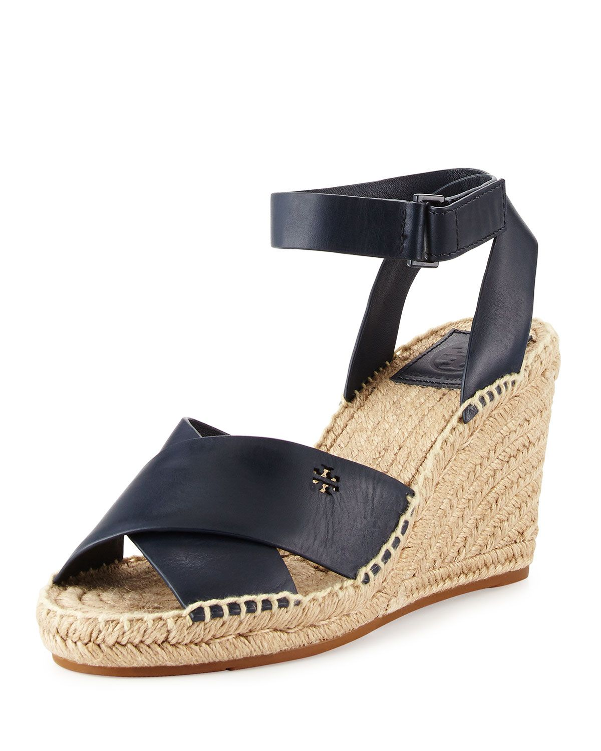 6e5624f8b72 Tory Burch Bima Leather Wedge Espadrille Sandal