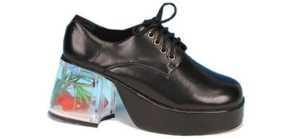 2f3d93ca2837a6 Yes that s a Goldfish in Men s Fish Tank Adult Platform Shoes ...