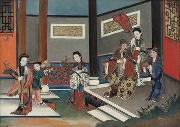 TWO CHINESE REVERSE GLASS PAINTINGS  19TH CENTURYhttp://www.christies.com/