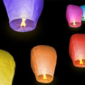 DealFloating Chinese Sky Lanterns - 10 Pack  $25.00