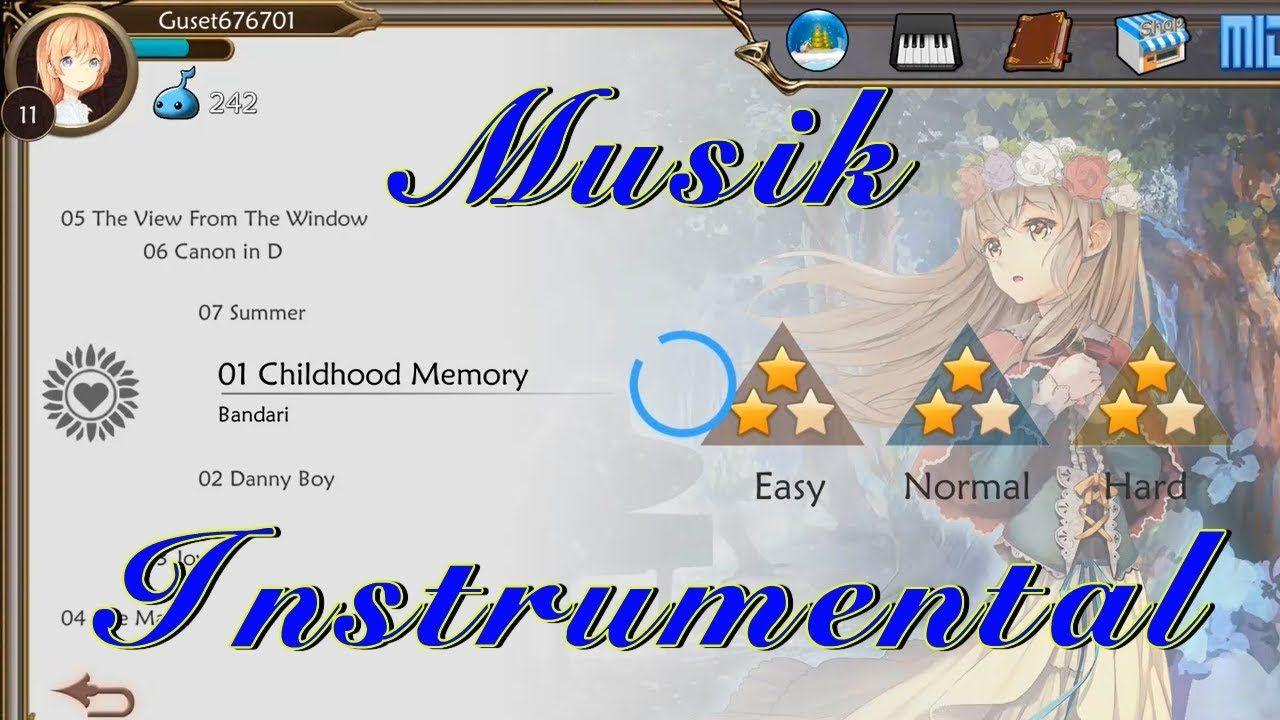 Musik Instrumental Childhood Memory dari Aplikasi Musik