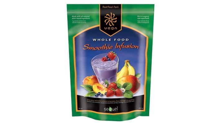 Vegan & gluten free Smoothie Infusion (veggies & protein mix -- just add fruit, juice or water)