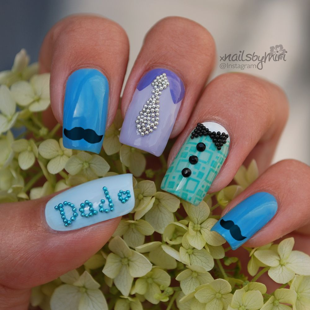 Father\'s Day Nails | My Nails | Pinterest | Father\'s day, Nails and ...