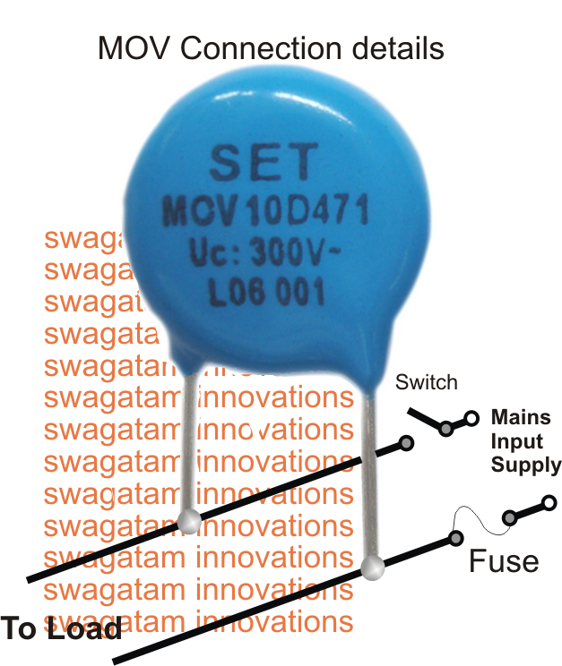 Movs Or Metal Oxide Varistors Are Devices Designed For Controlling Mains Switch On Surges In Electrical And Electronic Circuits