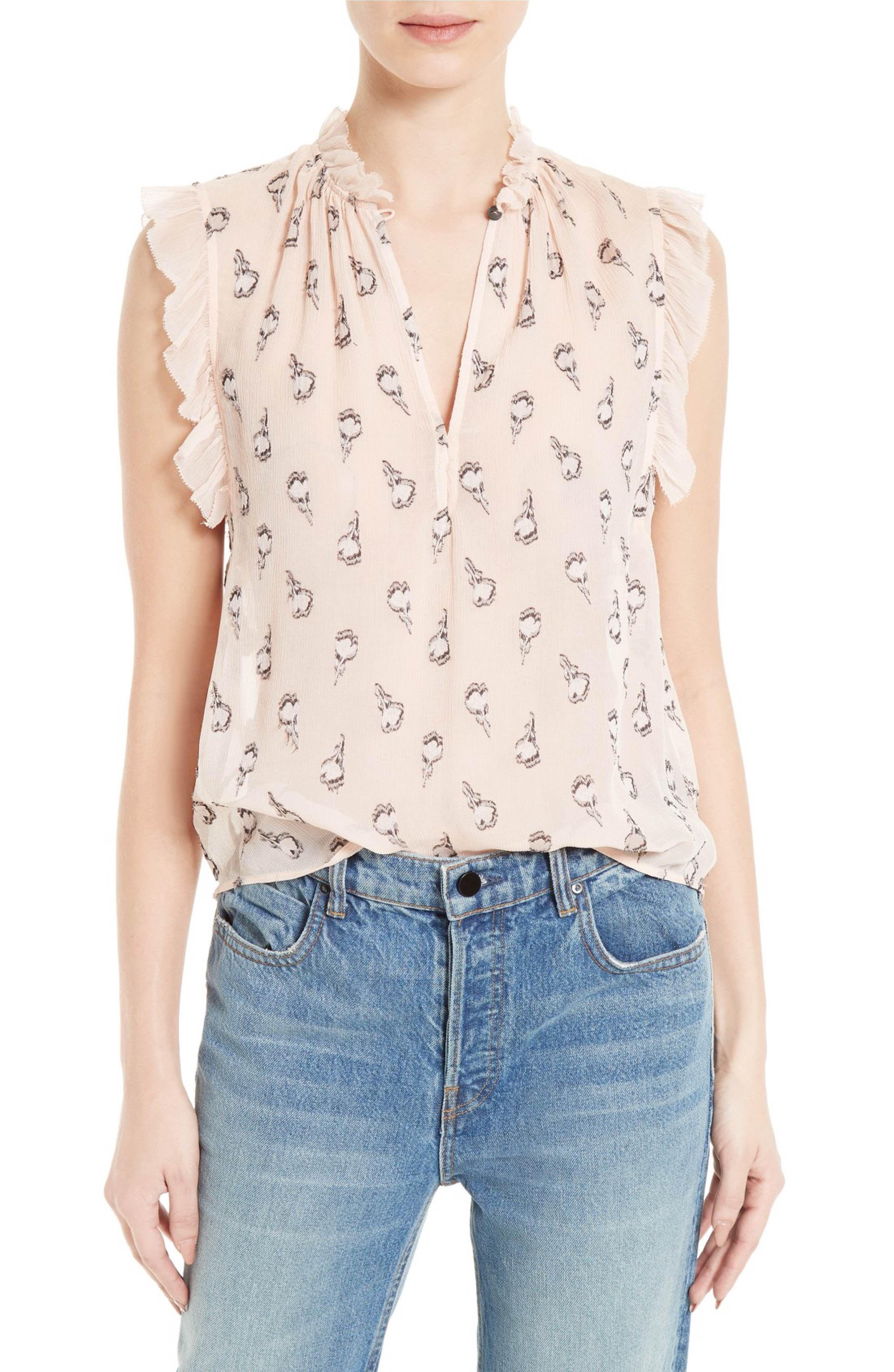 de9808f969f3 Main Image - Rebecca Taylor Tulip Silk Blend Fil Coupé Top | blouse ...