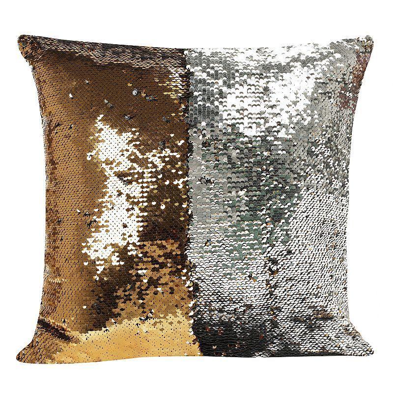 Mermaid Shimmer Sequin Throw Pillow