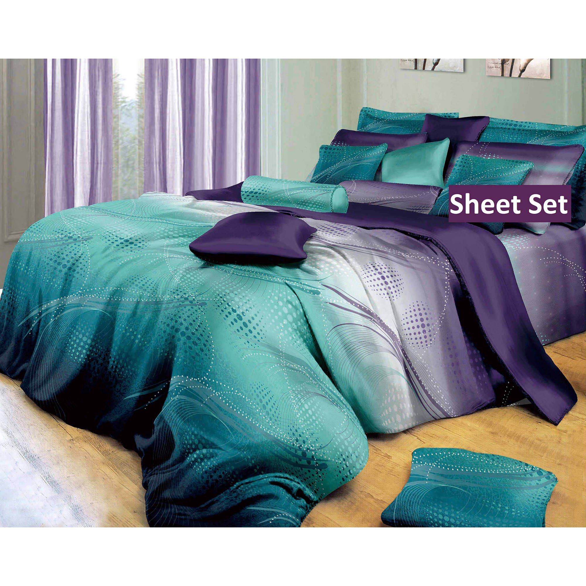 Swanson Beddings Luxury Twilight 100 Cotton Sheet Set Fitted Sheet Flat Sheet And Two Matching Pillowcases King Walmart Com In 2020 Luxury Bedding Bed Linens Luxury Bed Linen Design