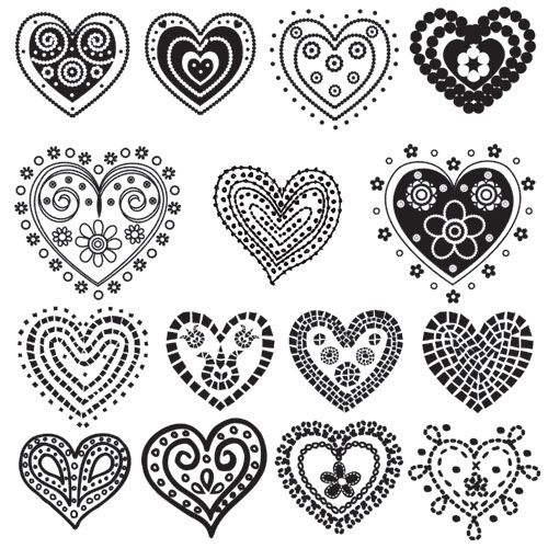 valentineamp;#039;s day printables #valentinesday Herzen zeichnen / Gorgeous Hearts Free Printables :: One of Many Valentine Ideas at FineCraftGuild.com