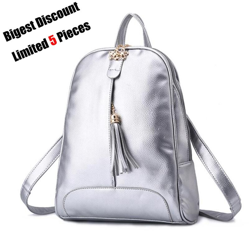 acc199cec52c New Bags For Sale Fashion Leather Shell Silver Backpack Women Simple School  Backpack For Teenager Brand