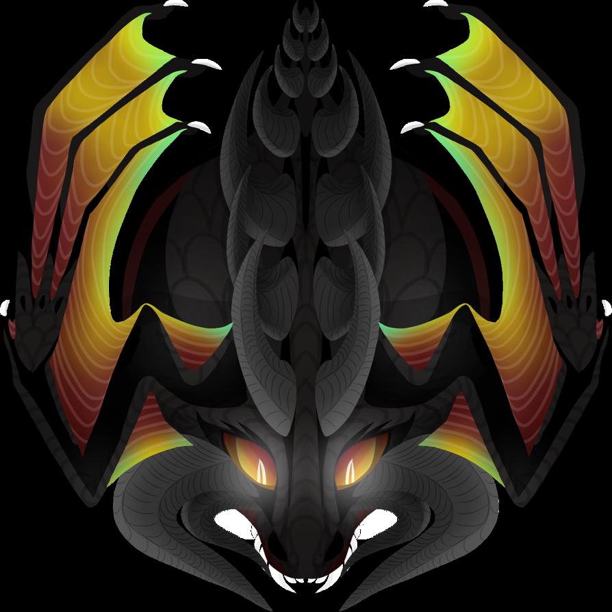 Mope Io Custom Skin Black Dragon By Wabbamadness On Deviantart Black Dragon Dragon Art