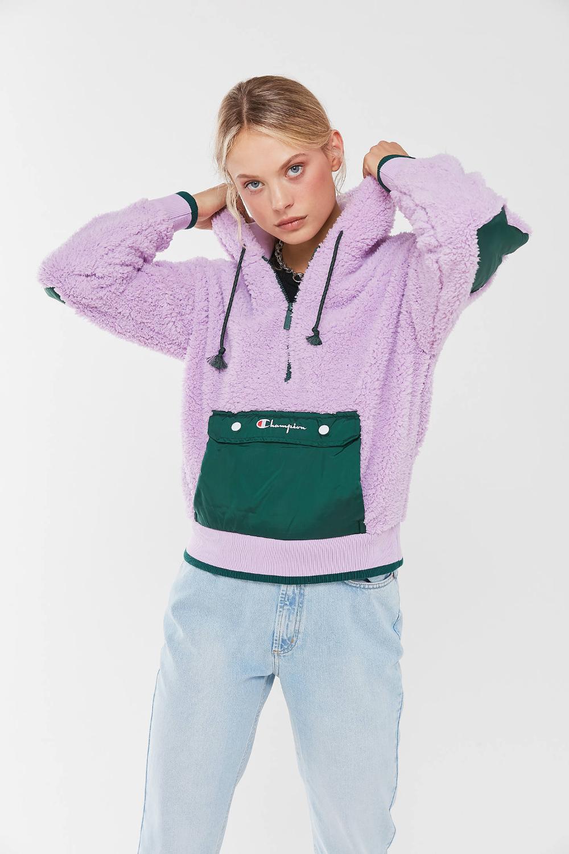 Champion Uo Exclusive Sherpa Half Zip Sweatshirt Urban Outfitters Half Zip Sweatshirt Zip Sweatshirt Champion Clothing [ 1500 x 1000 Pixel ]