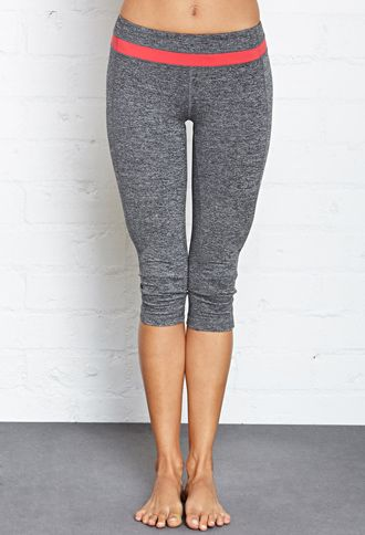 Heathered Yoga Capri Leggings Forever 21 2000107236 With Images Active Wear For Women Active Wear Clothes