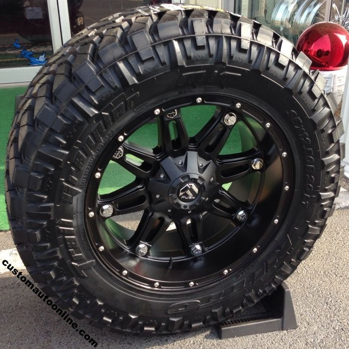 20x10 Fuel Hostage D531 Black 35x12 50r20 Nitto Trail Grappler