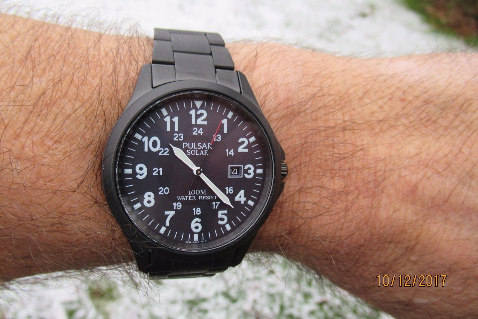 30aef4e9c PULSAR by SEIKO AS32-X001 ION-PLATED SOLAR POWERED WATCH EX-DISPLAY RRP  £179   eBay