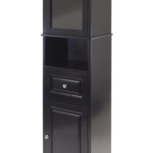 Winsome alps tall cabinet with glass door and drawer white http winsome alps tall cabinet with glass door and drawer white planetlyrics Image collections