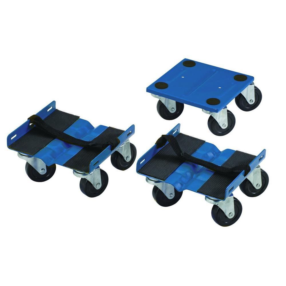 Shepherd 2 37 In Dia Plate Caster 1000 Lbs Capacity Snowmobile Dolly Set Blue Furniture Dolly Plate Design Hardware