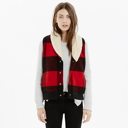 Madewell - Woolrich White® Buffalo Plaid Vest
