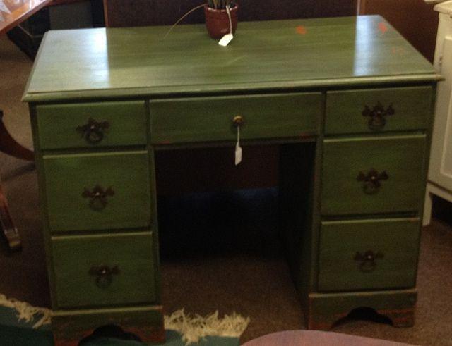 Green painted desk by newleafgalleries, via Flickr