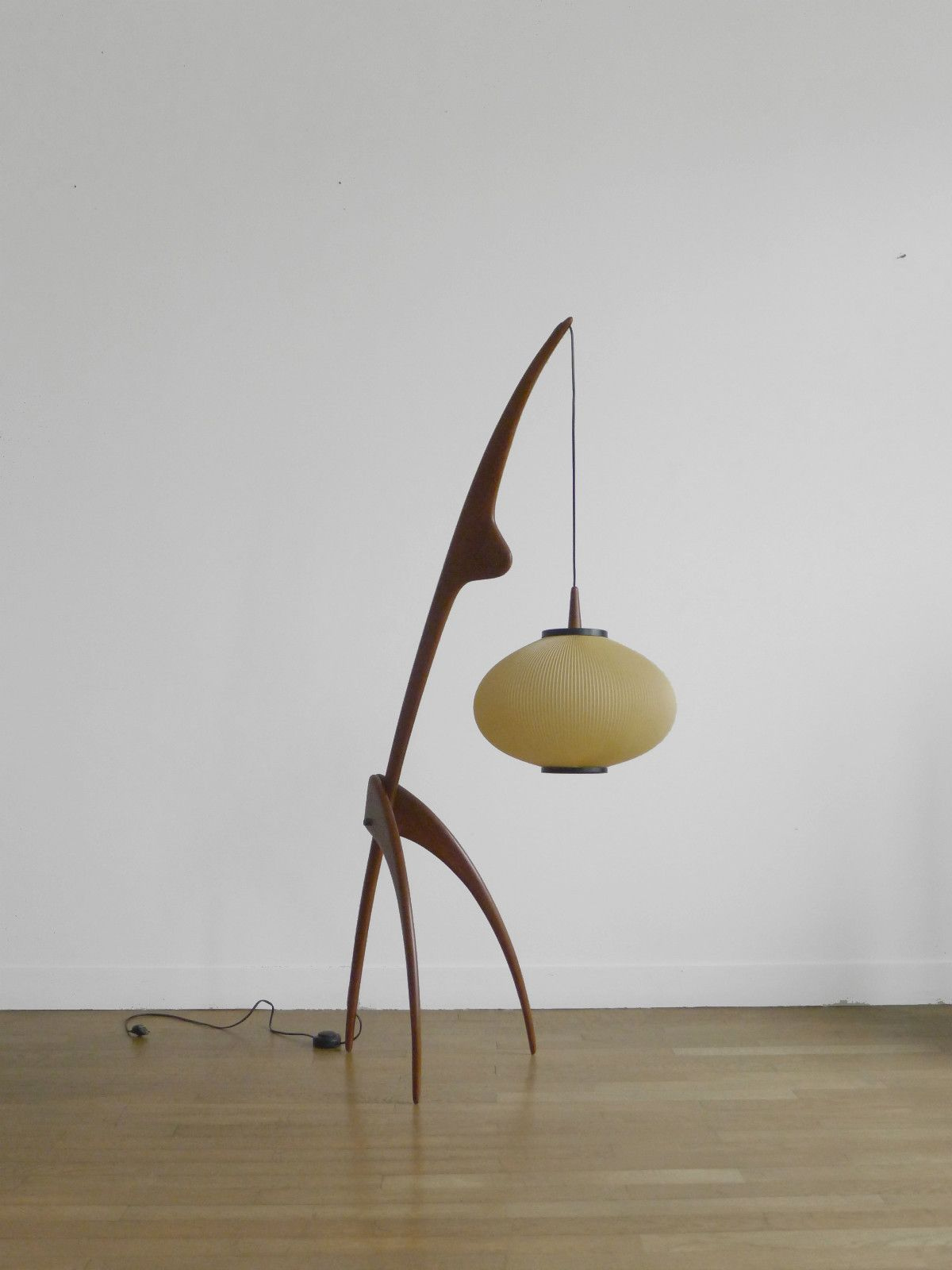 1950 modernist floorlamp by rispal mid century modern eames mozeypictures Gallery