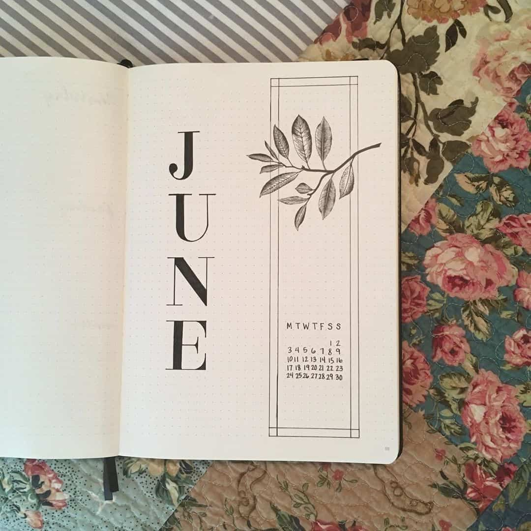 50+ incredible June monthly spreads for your Bullet Journal? | My Inner Creative