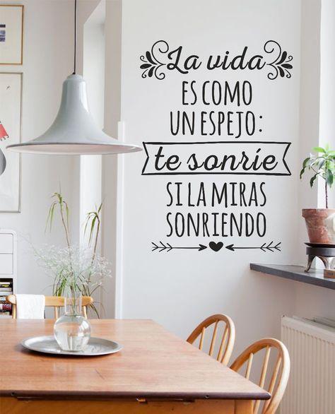 Vinilos decorativos de pared frases personalizados y m s - Vinilos decorativos en valencia ...