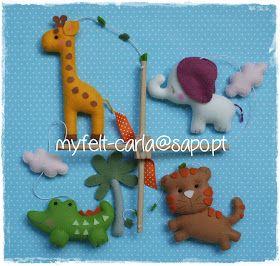 My Felt: Animais da selva - versão menina!