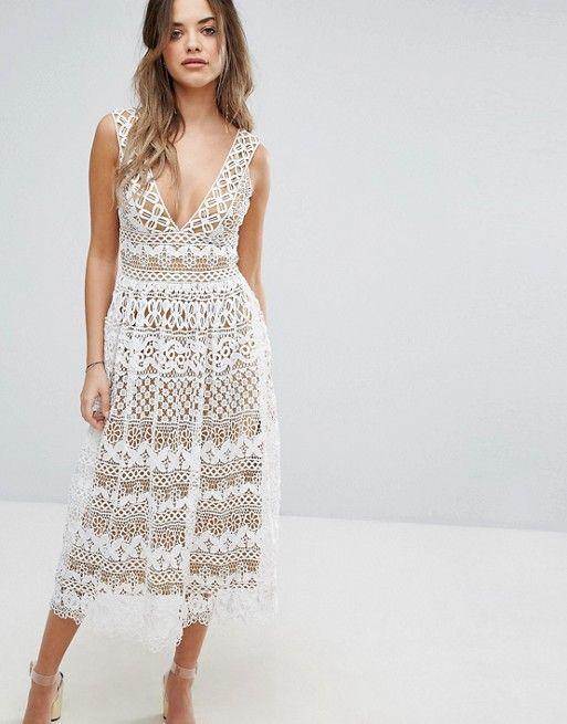 6b98990675 Discover Fashion Online Cream Midi Dress
