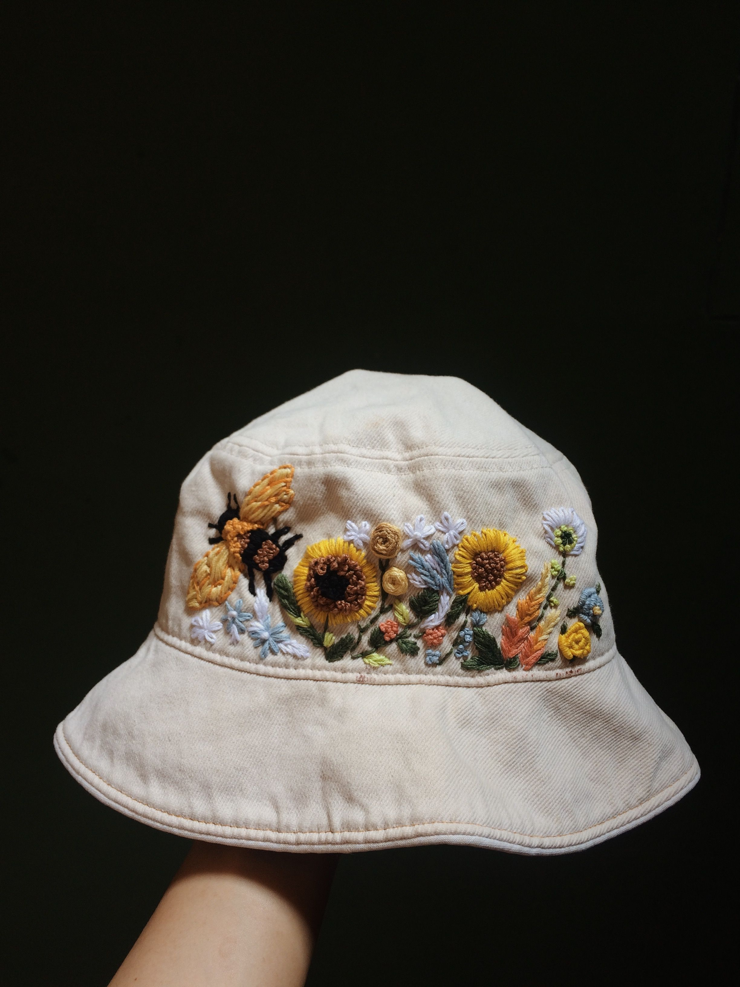 Embroidery Bucket Hat Hat Embroidery Embroidered Clothes Embroidery On Clothes