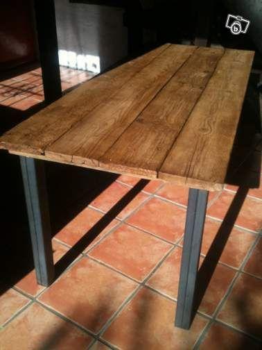 Table A Manger Design Brut Bois Et Metal Ameublement Essonne Leboncoin Fr Table A Manger Design Mobilier De Salon Ameublement