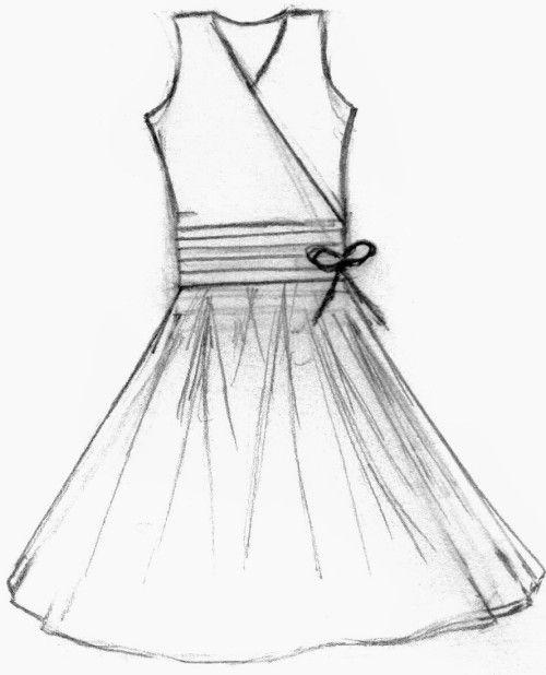 how to draw a wedding dress step by step