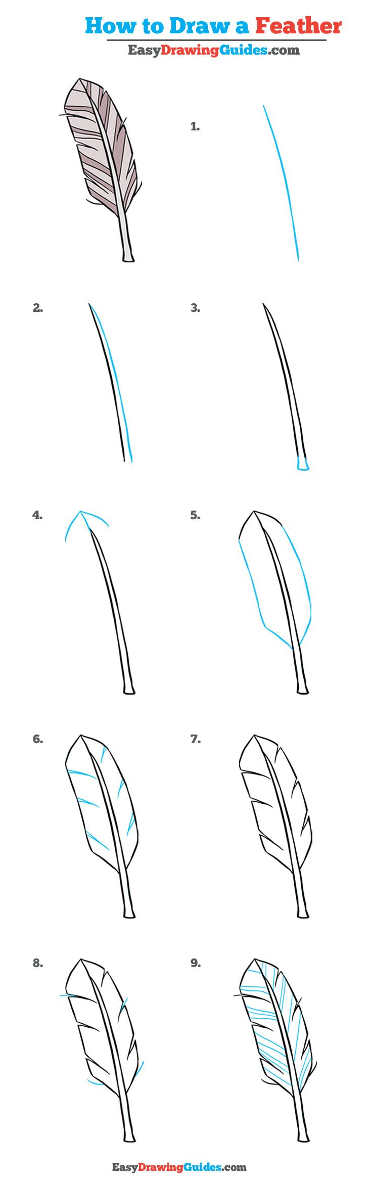 How To Draw A Feather Really Easy Drawing Tutorial Drawing Tutorial Easy Feather Drawing Drawing Tutorial