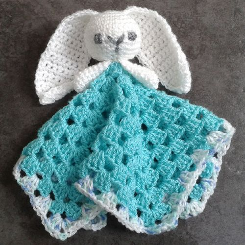 Crochet For Children Cute Bunny Comforter Lovey Free