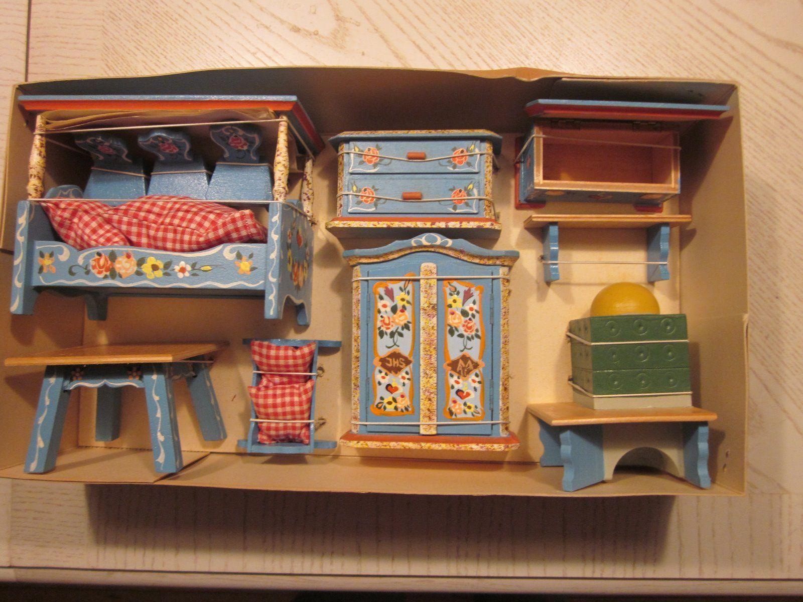 DORA KUHN GERMAN WOOD DOLL HOUSE FURNITURE BAVARIAN STYLE | EBay Dollhouse  Dolls, Vintage Dollhouse