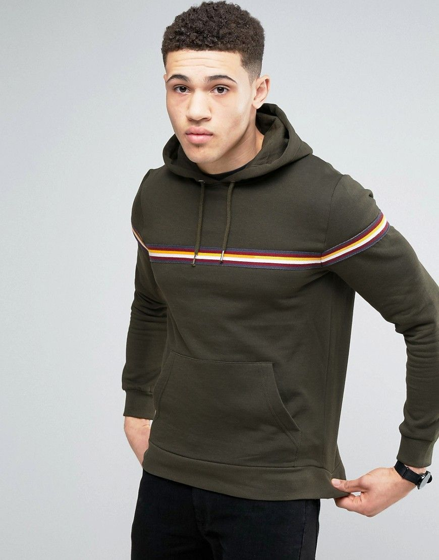 Get this Brave Soul's hooded sweatshirt now! Click for more details. Worldwide shipping. Brave Soul Stripe Chest Hoodie - Green: Hoodie by Brave Soul, Fleece-back sweat, Drawstring hood, Contrast stripe detail, Pouch pocket, Ribbed trims, Regular fit - true to size, Machine wash, 80% Cotton, 20% Polyester, Our model wears a size Medium and is 189cm/6'2.5 tall. (sudadera con capucha, hood, hoody, hooded, capuchas, sudadera con capucha, sudaderas con capucha, sudaderas con capuchas, hoodie…