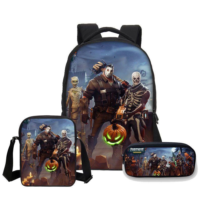 fortnite battle royale student book bag school bag backpack rucksack 3 piece set ebay link - fortnite lunch box ebay
