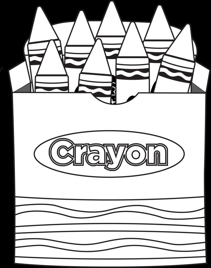 crayon coloring page | Kindergarten coloring pages, School ...