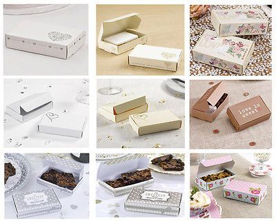 10 cake slice #boxes #wedding #party favours shabby chic floral various designs,  View more on the LINK: http://www.zeppy.io/product/gb/2/161687841033/