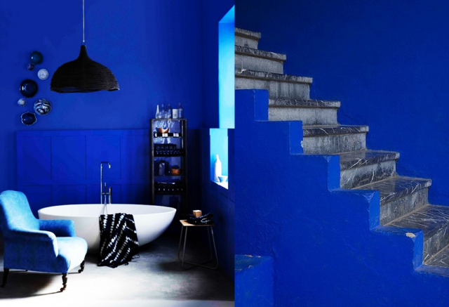 20 inspirations d co en bleu lectrique d co bleu blue d co bleue deco et inspiration d co. Black Bedroom Furniture Sets. Home Design Ideas