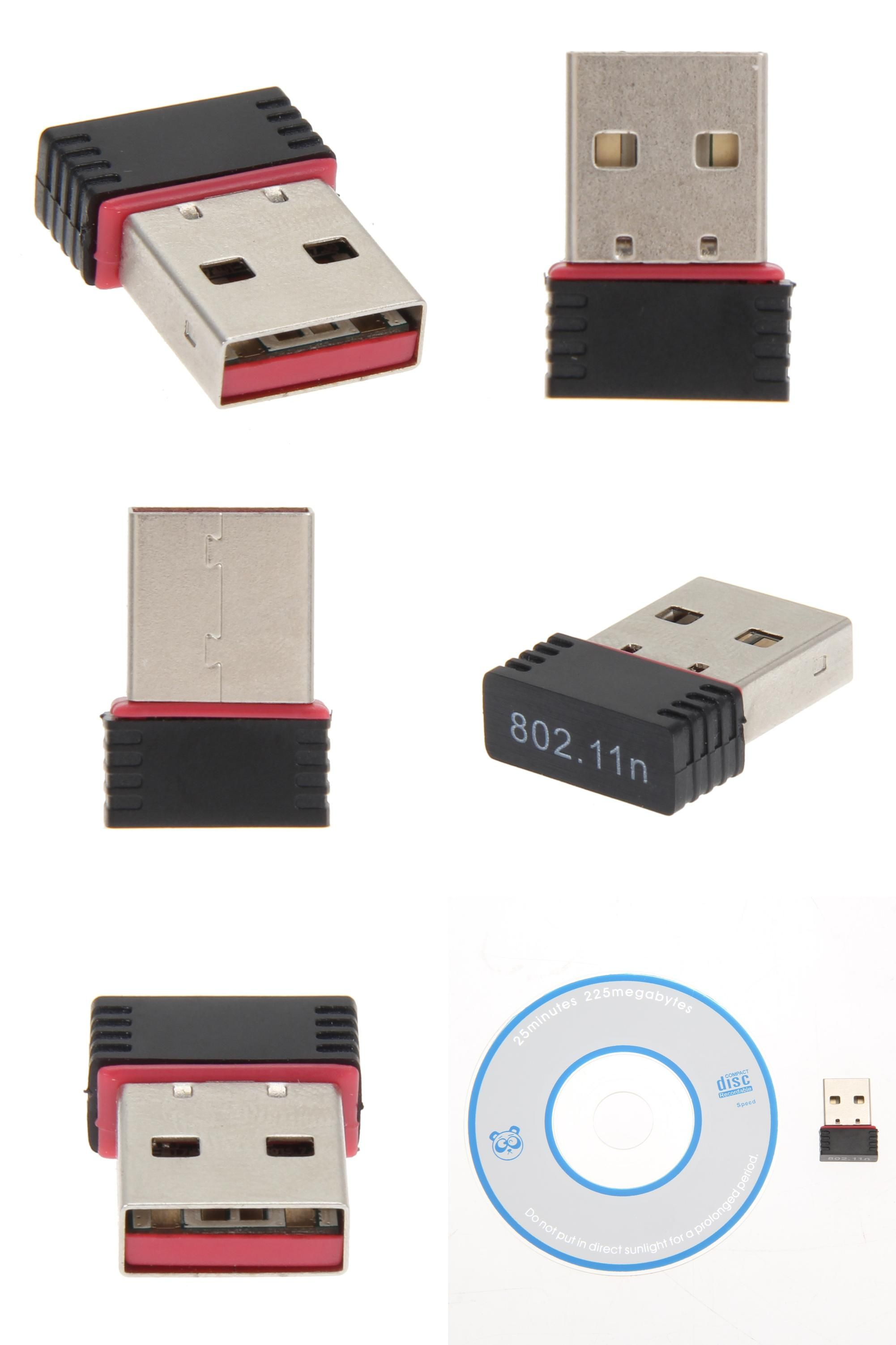 WUHFSHOPP Computer Accessories HA 300Mbps Mini USB 802.11n//g//b Wireless WiFi Network Card LAN Adapter with Antenna
