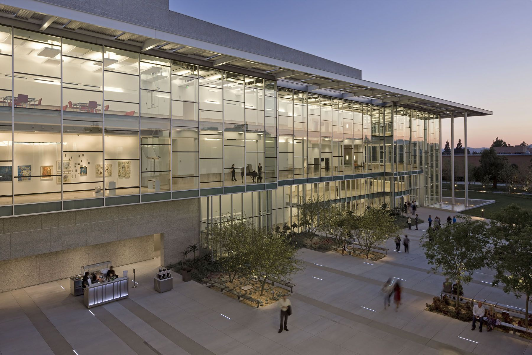 Valley Performing Arts Center Courtyard Architecture California